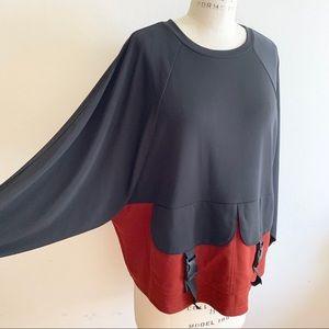 Zara Tops - Zara - Two tones bar sleeves top
